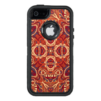 Abstract colorful hand drawn curly pattern design OtterBox defender iPhone case