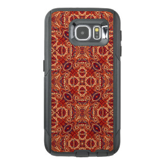 Abstract colorful hand drawn curly pattern design OtterBox samsung galaxy s6 case