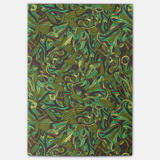 Abstract colorful hand drawn curly pattern design post-it® notes