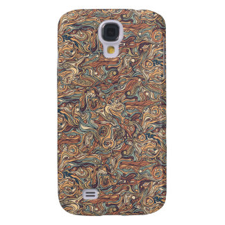 Abstract colorful hand drawn curly pattern design samsung galaxy s4 cover