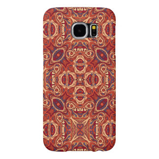 Abstract colorful hand drawn curly pattern design samsung galaxy s6 cases