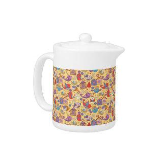 Abstract colorful hand drawn floral pattern design