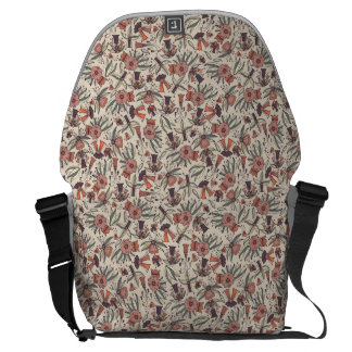 Abstract colorful hand drawn floral pattern design commuter bags
