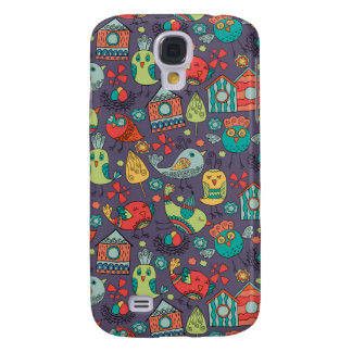 Abstract colorful hand drawn floral pattern design galaxy s4 cases