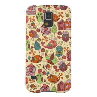 Abstract colorful hand drawn floral pattern design galaxy s5 case