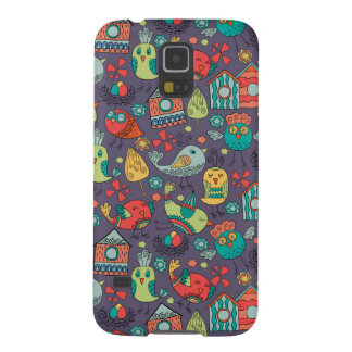 Abstract colorful hand drawn floral pattern design galaxy s5 covers