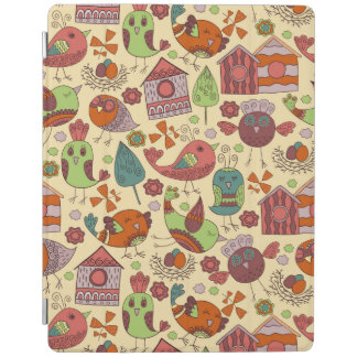 Abstract colorful hand drawn floral pattern design iPad cover
