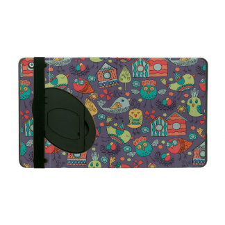 Abstract colorful hand drawn floral pattern design iPad folio case