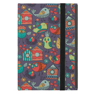Abstract colorful hand drawn floral pattern design iPad mini case
