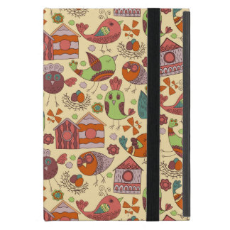 Abstract colorful hand drawn floral pattern design iPad mini covers