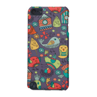 Abstract colorful hand drawn floral pattern design iPod touch (5th generation) cases