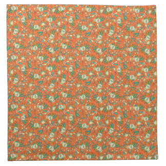Abstract colorful hand drawn floral pattern design napkin