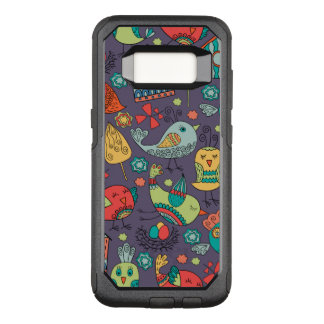 Abstract colorful hand drawn floral pattern design OtterBox commuter samsung galaxy s8 case