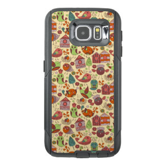 Abstract colorful hand drawn floral pattern design OtterBox samsung galaxy s6 case