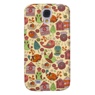 Abstract colorful hand drawn floral pattern design samsung galaxy s4 cover