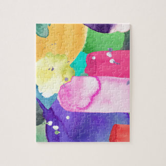 ABSTRACT COLORFUL JIGSAW PUZZLE