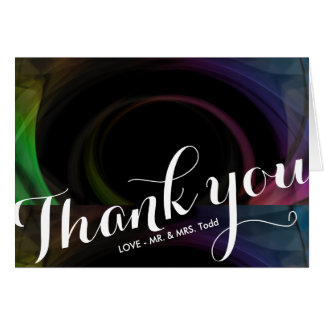 Abstract Colorful Light | WEDDING THANK YOU CARD