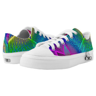Abstract Colorful Line Low Top Shoe