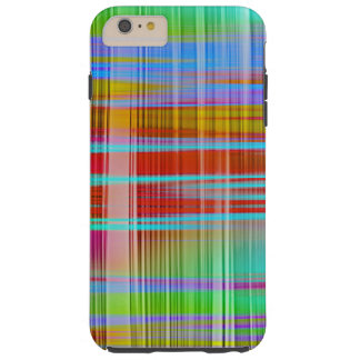 Abstract Colorful Line Pattern Tough iPhone 6 Plus Case