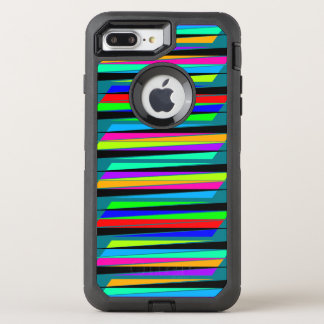 Abstract colorful lines OtterBox defender iPhone 8 plus/7 plus case