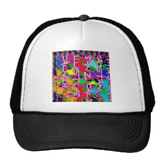 Abstract Colorful made of Alphabet soup kids love Trucker Hat