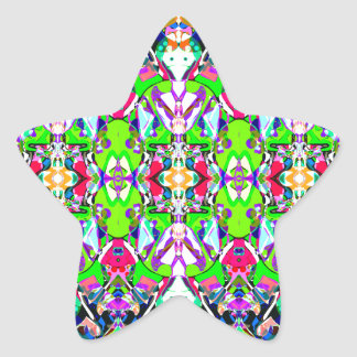 Abstract Colorful Mandala Star Sticker