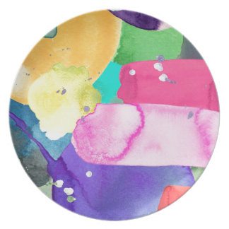 ABSTRACT COLORFUL PARTY PLATE