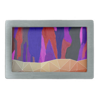 Abstract Colorful Pastel look Design Belt Buckles