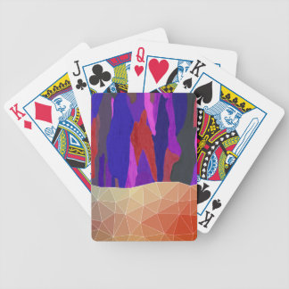 Abstract Colorful Pastel look Design Bicycle Playing Cards
