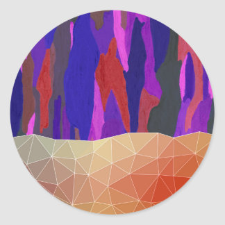 Abstract Colorful Pastel look Design Classic Round Sticker