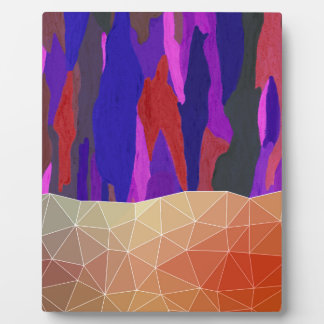 Abstract Colorful Pastel look Design Plaque