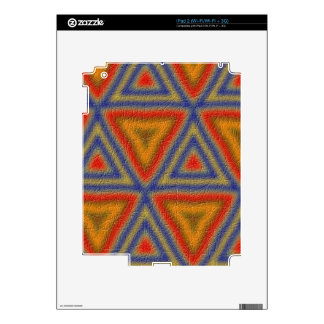 Abstract colorful pattern decals for the iPad 2