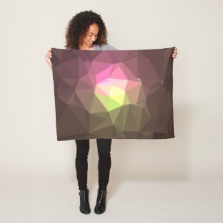 Abstract & Colorful Pattern Design - Message Hope Fleece Blanket
