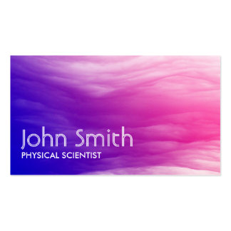 Abstract Colorful Physical Scientist Business Card