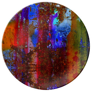 Abstract colorful plate. plate