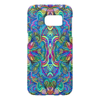 Abstract Colorful Psychedelic Symmetrical Swirls