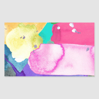 ABSTRACT COLORFUL RECTANGULAR STICKER