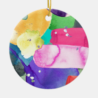 ABSTRACT COLORFUL ROUND CERAMIC DECORATION