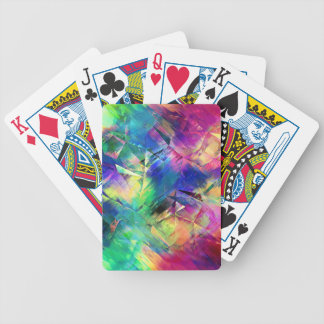 Abstract Colorful Shapes and Textures Bicycle Playing Cards