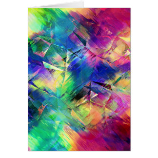 Abstract Colorful Shapes and Textures Card