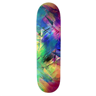 Abstract Colorful Shapes and Textures Skate Deck