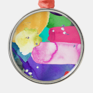 ABSTRACT COLORFUL Silver-Colored ROUND DECORATION