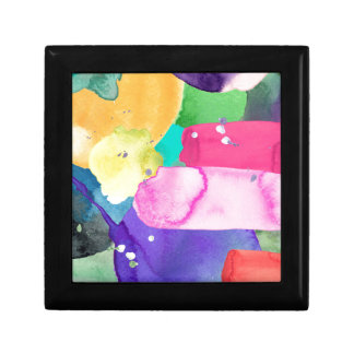 ABSTRACT COLORFUL SMALL SQUARE GIFT BOX