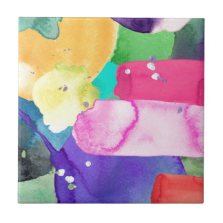 ABSTRACT COLORFUL SMALL SQUARE TILE
