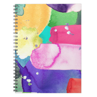 ABSTRACT COLORFUL SPIRAL NOTE BOOKS