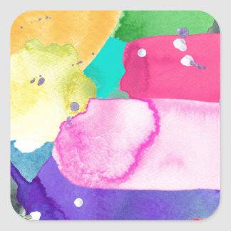 ABSTRACT COLORFUL SQUARE STICKER