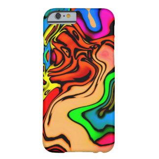 Abstract Colorful Swirl Pattern Barely There iPhone 6 Case