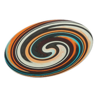 Abstract Colorful Swirl Pattern Plate