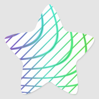 Abstract Colorful Timeless Lines Pattern Sticker