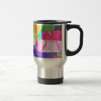 ABSTRACT COLORFUL TRAVEL MUG